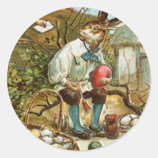 イースターのウサギへの手紙 丸型シール