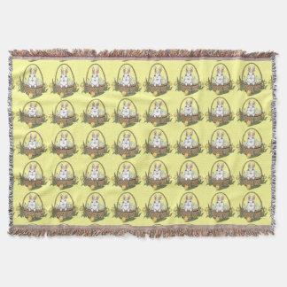 イースターのウサギ毛布のお祝いのイースターブランケット スローブランケット