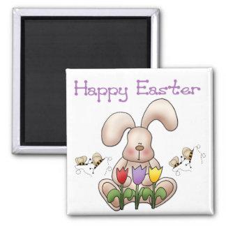 イースターのウサギ2 -ハッピーイースターの磁石 マグネット