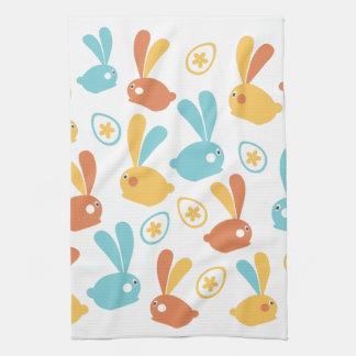 イースターのウサギ キッチンタオル
