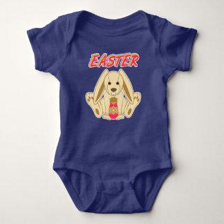 イースターのウサギ ベビーボディスーツ