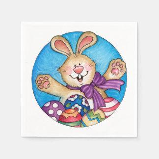 イースターのウサギ-紙ナプキン スタンダードカクテルナプキン