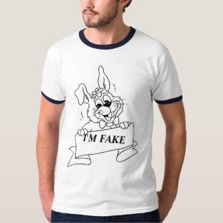 イースターのウサギimの擬似ワイシャツ tシャツ