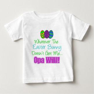 イースターのウサギOpaは ベビーTシャツ