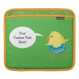 イースターひよこカスタムな装置袖 iPadスリーブ