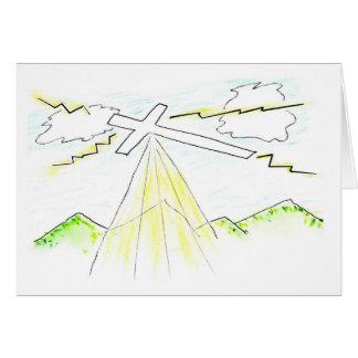 イースターイラストレーションの十字は天国の力を解放します カード