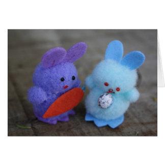 イースターウサギの挨拶状 カード