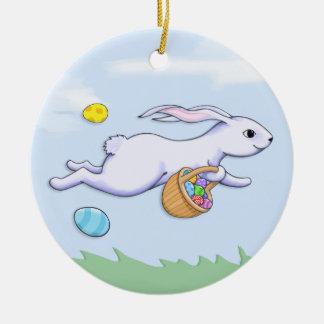 イースターウサギの操業オーナメント セラミックオーナメント