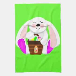 イースターウサギ キッチンタオル
