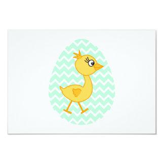 イースターエッグおよびかわいいひよこ カード