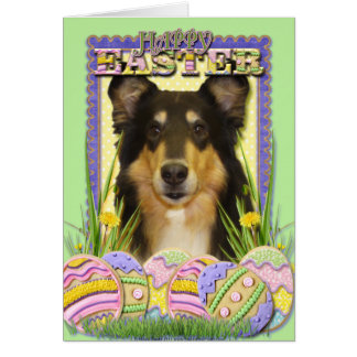 イースターエッグのクッキー-コリー カード