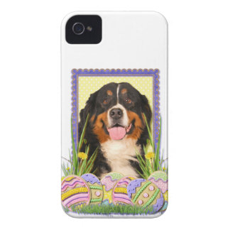 イースターエッグのクッキー-バーニーズ・マウンテン・ドッグ Case-Mate iPhone 4 ケース