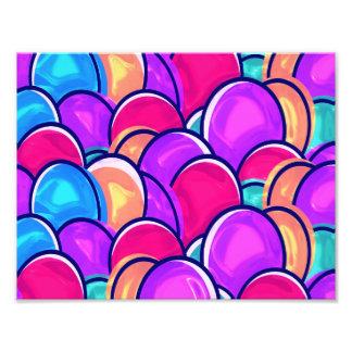 イースターエッグのピンク フォトプリント