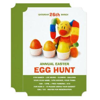 イースターエッグの狩りのお祝いのカスタムの招待状 カード
