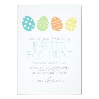 イースターエッグの狩りのパーティの招待状の青 カード