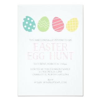 イースターエッグの狩りのパーティの招待状 カード