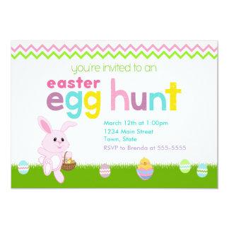 イースターエッグの狩りの招待状カード5x7 カード