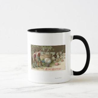 イースターエッグを指摘している巡礼者 マグカップ