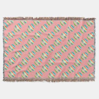 イースターエッグ毛布のおもしろいのイースターブランケットの装飾 スローブランケット