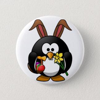 イースターペンギン 5.7CM 丸型バッジ