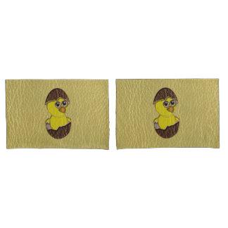 イースターレザールックの鶏 枕カバー