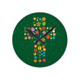 イースター十字 ラウンド壁時計