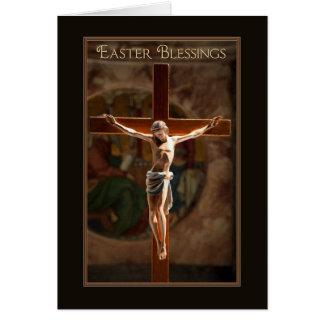 イースター天恵の色彩の鮮やかな十字架像 カード