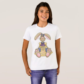 イースター女の子のバニーのTシャツ Tシャツ