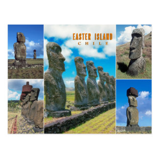 イースター島(Rapa Nui)、チリ ポストカード