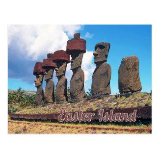イースター島(Rapa Nui)チリ ポストカード