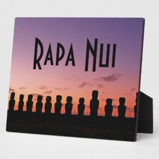 イースター島Rapa Nuiチリ南アメリカ フォトプラーク