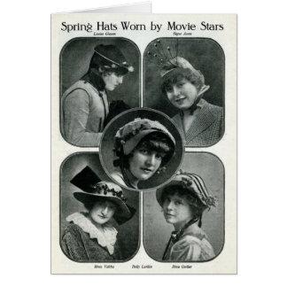 イースター帽子1920の女優カード カード