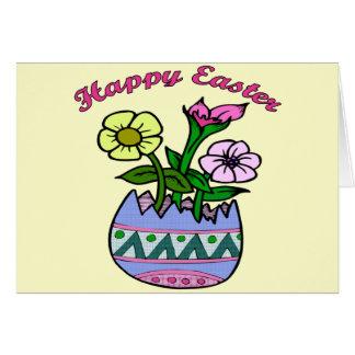 イースター春の花のTシャツおよびギフト カード
