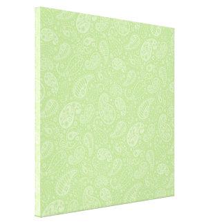 イースター緑のレトロのペイズリー キャンバスプリント