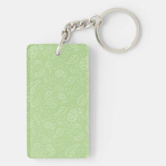 イースター緑のレトロのペイズリー キーホルダー