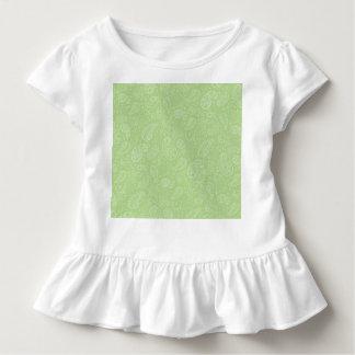 イースター緑のレトロのペイズリー トドラーTシャツ