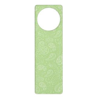イースター緑のレトロのペイズリー ドアノブプレート