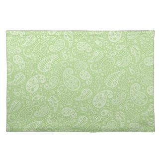 イースター緑のレトロのペイズリー ランチョンマット
