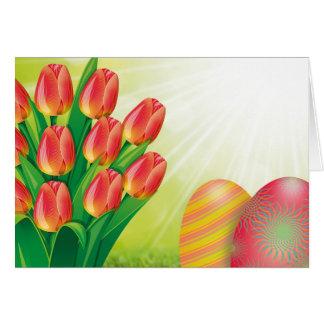 イースター花束 カード
