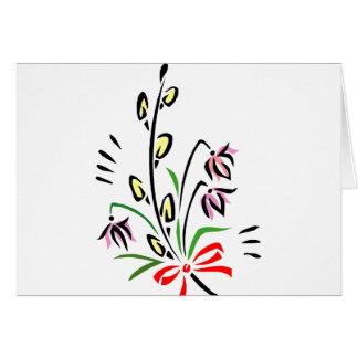イースター花 カード