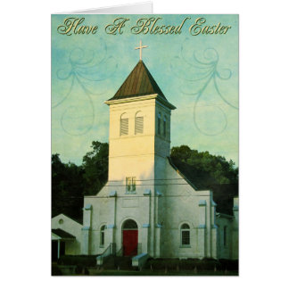 イースター賛美された教会 カード