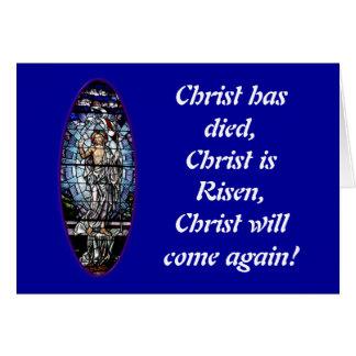 イースター: キリストのステンドグラスの復活 カード