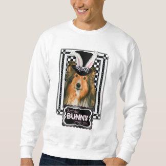 イースター-バニー愛します-シェットランド・シープドッグ スウェットシャツ