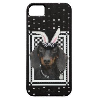 イースター-バニー愛します-ダックスフント iPhone SE/5/5s ケース