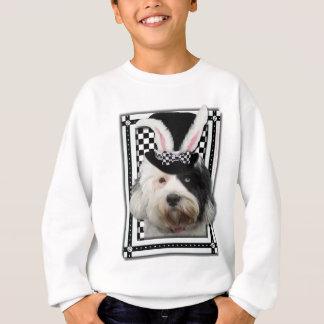 イースター-バニー愛します-チベタンテリア スウェットシャツ