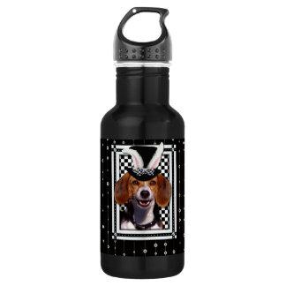 イースター-バニー愛します-ビーグル犬 ウォーターボトル
