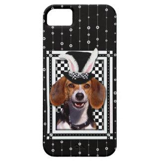 イースター-バニー愛します-ビーグル犬 iPhone SE/5/5s ケース