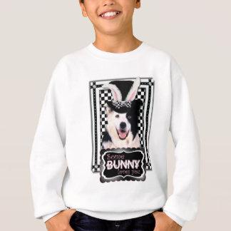 イースター-バニー愛します-ボーダーコリー スウェットシャツ