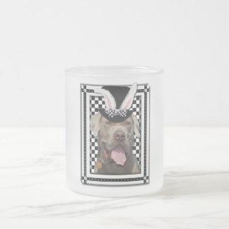 イースター-バニー愛します-マスティフ フロストグラスマグカップ