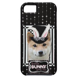 イースター-バニー愛します-柴犬 iPhone SE/5/5s ケース